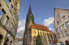 Tower of Saint Lamberti Church in Munster, Germany Royalty Free Stock Image