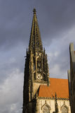 Tower of Saint Lamberti Church in Munster, Germany Royalty Free Stock Photography