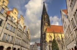 Tower of Saint Lamberti Church in Munster, Germany Stock Photography