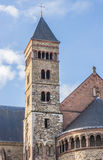 Tower of the Saint Servatius Church in Maastricht Royalty Free Stock Photography