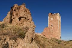 Tower of San Cristobal,walls,  S. XIV ,Daroca. Tower of San Cristobal walls   S. XIV ,Daroca. Zaragoza province, Aragon, Spain Royalty Free Stock Photo