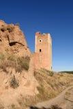 Tower of San Cristobal,walls,. San Cristobal tower in the town walls of Daroca XIV century . Zaragoza province, Aragon, Spain Royalty Free Stock Photography