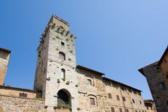 Tower of San Gimignano Stock Photo