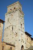 Tower in San Gimignano, Italy. San Gimignano walled medieval hill town from Tuscany, Italy Royalty Free Stock Photos