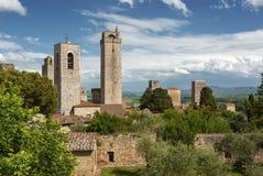 Tower in San Gimignano, Italy Stock Photos