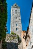 Tower in San Gimignano, Toscana landmark Royalty Free Stock Photos