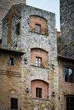 A tower in San Gimignano, Tuscany, Italy Royalty Free Stock Image