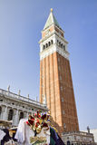 Tower of San Marco Square, Venice Stock Images
