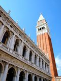 Tower of San Marco square in Venice - italy Royalty Free Stock Photos
