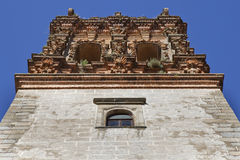 Tower of San Miguel church Royalty Free Stock Images
