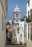 The tower of Santo António`s Church in Lagos Royalty Free Stock Image