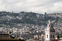 Tower of Santo Domingo church in colonial Quito Stock Photo