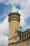 Tower of the savings bank in Luxembourg. Savings bank tower in Luxembourg, a famous landmark in the center of the capital Luxembourg-Ville Stock Photography