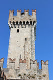 Tower at Scaliger Castle, Sirmione, Italy Royalty Free Stock Photography