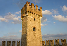The Tower of Scaliger Fortress in Sirmione Royalty Free Stock Photos