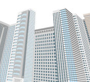 Tower scene,architecture modern style Stock Photos