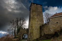 Tower of Schaumburg Castle in Germany Royalty Free Stock Photo