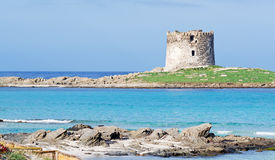 Tower by the sea. Aragonese tower by the sea in Stintino Royalty Free Stock Image