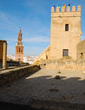 Tower seen from patio Alcazar Carmona Royalty Free Stock Photography