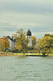 Tower of the Seeon Abbey in Chiemgau Royalty Free Stock Photography