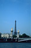 Tower and Seine Royalty Free Stock Images