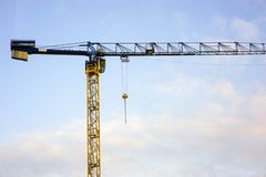 Building.Mounting crane royalty free stock photo