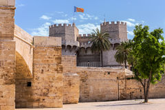 Tower of Serranos in Valencia, Spain Royalty Free Stock Images