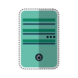 Tower server isolated icon Royalty Free Stock Photo