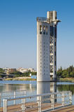 Tower in Seville. Modern tower on the river Gualdalquivir in Seville Royalty Free Stock Images