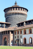 Tower of Sforza Castle in Milan Royalty Free Stock Photography