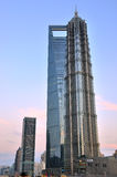 Tower in Shanghai center commercial area Royalty Free Stock Photo