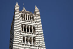 Tower of Sienna Cathedral Church Royalty Free Stock Photos