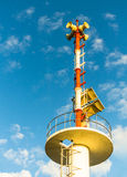 Tower signal warn tsunami. Stock Photography