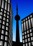Tower Silhouette Stock Photography