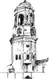Tower sketch Royalty Free Stock Photos