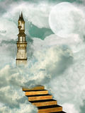 Tower in the sky. Stairway and tower in the sky Stock Image