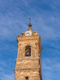 Tower in the Sky. Beautiful church tower in Vitoria Gasteiz from Spain Royalty Free Stock Photos