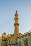 Tower of Süleymaniye mosque in evening Stock Images