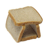 Tower of slices dark bread Royalty Free Stock Images