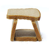 Tower of slices dark bread Royalty Free Stock Photo