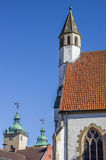 Tower of the small church of Steinfurt Stock Image
