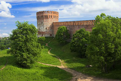 Tower of the Smolensk fortress wall Stock Image