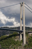 On tower of the Sotra Bridge. Near Bergen Norway Stock Photos