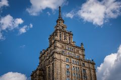 A tower from a soviet built building stock photo