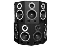 Tower of speakers Stock Images