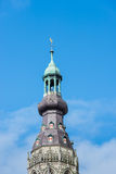Tower spire of a Dutch church Royalty Free Stock Photography