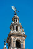 Tower and spire of The Giralda in Seville Stock Photography