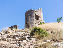 Tower. Sprawling guard tower of past centuries in the Crimea Stock Image