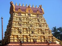 Tower of Sri Durga Parameswari Temple, Mulki, Karnataka Royalty Free Stock Photography