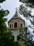 The tower of the St Cosmas and Damian church Royalty Free Stock Photography